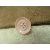 BOUTON ROSE PALE  -23 mm- A 4 trous