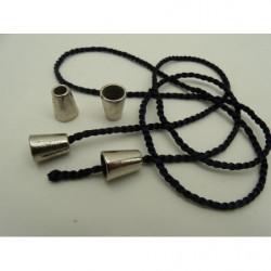 tissus coton imprimé- 150 cm- bleu et blanc
