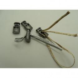 tissus velours- 150 cm- blanc et violet
