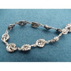 tissus velours- 150 cm- creme et beige