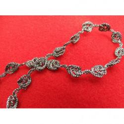 tissus velours-150 cm- blanc et noir