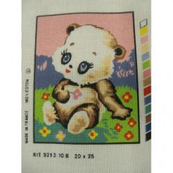 bouton bicolore composé -17 mm- noir