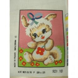 bouton bicolore composé -22mm- moutarde