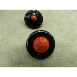bouton  bicolore composé -22 mm- noir et rouge