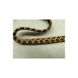 dentelle perlé verte, 6 cm, sublime  pour  customiser un vêtement, une robe,chemisier, sac, pochette ,lingerie